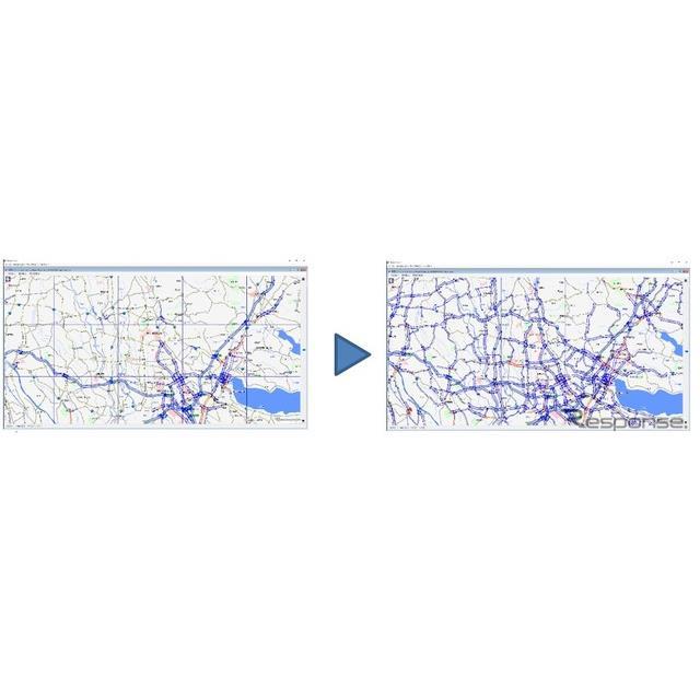 従来比最大約3倍の交通情報が提供される予定