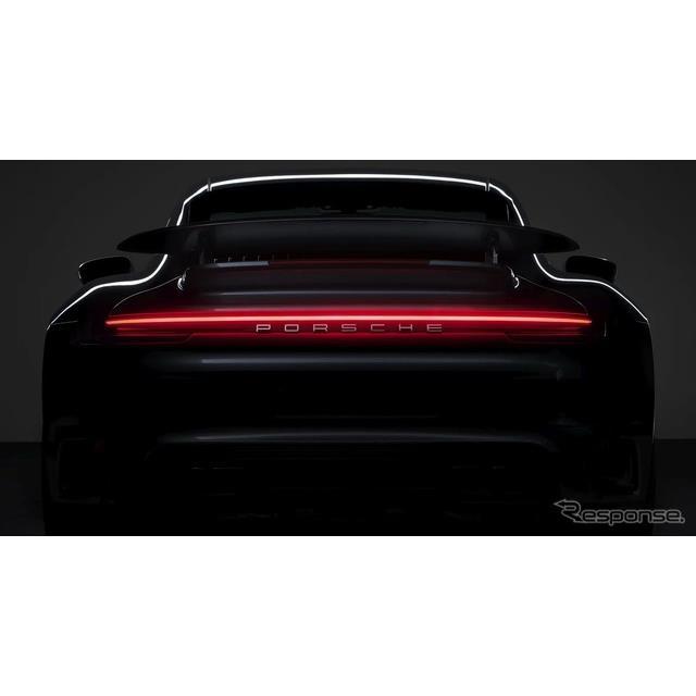 ポルシェは2月28日、新型『911』(Porsche 911)シリーズのトップグレードを3月3日、ライブストリームを通...