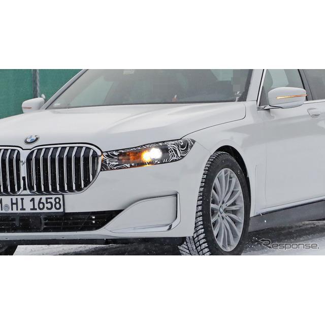 BMWのフラッグシップ・4ドアサルーン、『7シリーズ』次世代型の最新プロトタイプをカメラが捉えた。現行型7...