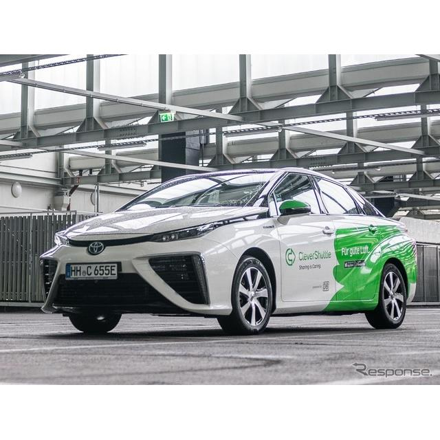ドイツのライドシェア企業のクレバー・シャトル社のトヨタ・ミライ