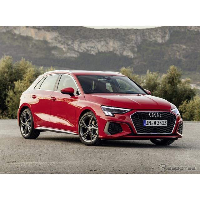 アウディは、新型『A3スポーツバック』(Audi A3 Sportback)に「Sライン」を設定し、5月から欧州納車を開...