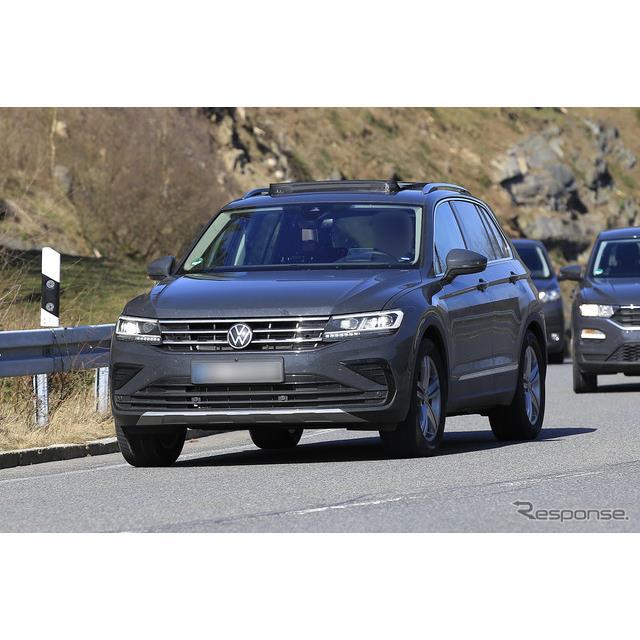 VWは、現在コンパクト・クロスオーバーSUV『ティグアン』改良新型を開発しているが、そのスポーティモデル...