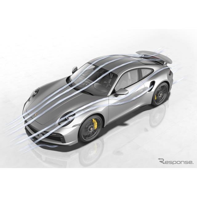 ポルシェは4月15日、新型『911ターボS』(Porsche 911 Turbo S)に、「ポルシェアクティブエアロダイナミク...