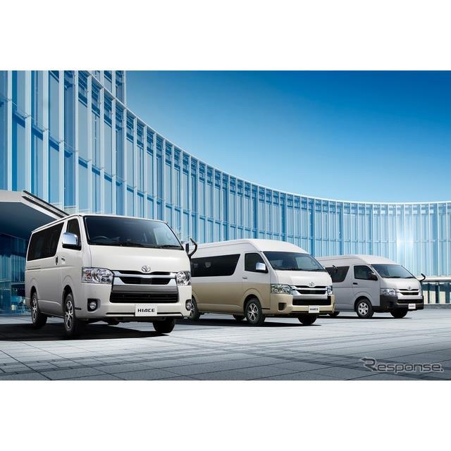 トヨタ自動車は、『ハイエース(バン・ワゴン・コミューター)』を一部改良、安全装備を充実させ、5月1日に...