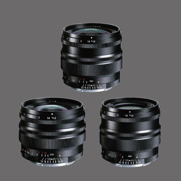 「NOKTON 50mm F1.2 Aspherical SE」「NOKTON 40mm F1.2 Aspherical SE」「NOKTON 35mm F1.2 Aspherical SE」