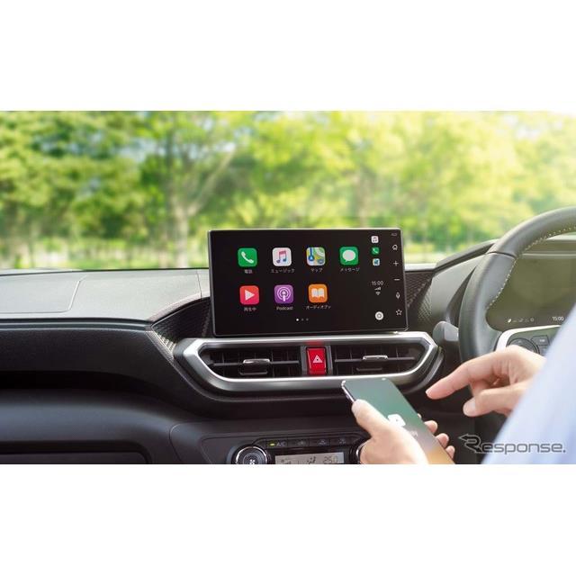 トヨタ自動車は、これまで有料オプションサービスとしていたディスプレイオーディオ(DA)の「Apple CarPla...