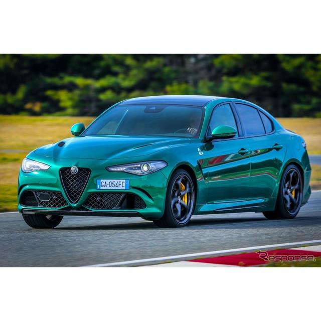 アルファロメオは5月7日、『ジュリア』(Alfa Romeo Giulia)の高性能グレード、「クアドリフォリオ」の202...
