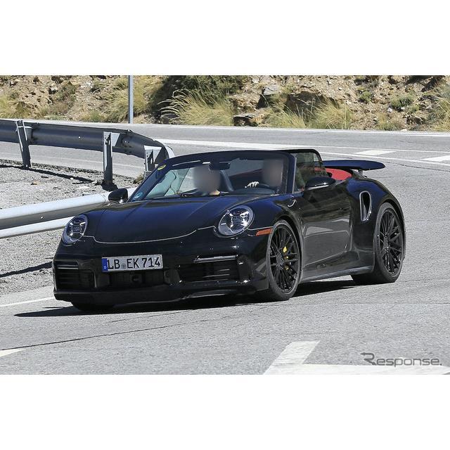 """ポルシェは3月に『911ターボS』、及び『911ターボSカブリオレ』を発表したが、その下位グレードとなる""""ち..."""