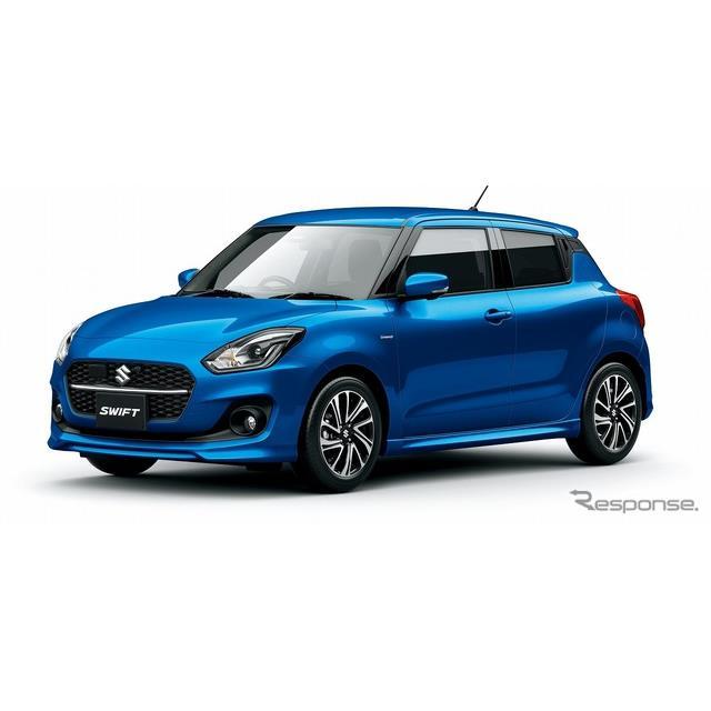 スズキは、小型乗用車『スイフト』『スイフトスポーツ』の安全装備を充実させて、5月25日より販売を開始す...