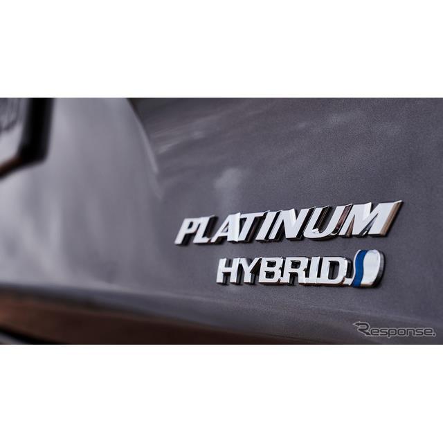 トヨタの米国向け新型ハイブリッド車のティザーイメージ