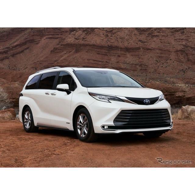 トヨタ自動車の米国部門は5月18日、新型『シエナ』(Toyota Sienna)を発表した。  シエナは主に、北米市...