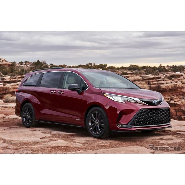 トヨタ自動車の米国部門は5月18日、新型『シエナ』(Toyota Sienna)にスポーティグレードの「XSE」を設定...