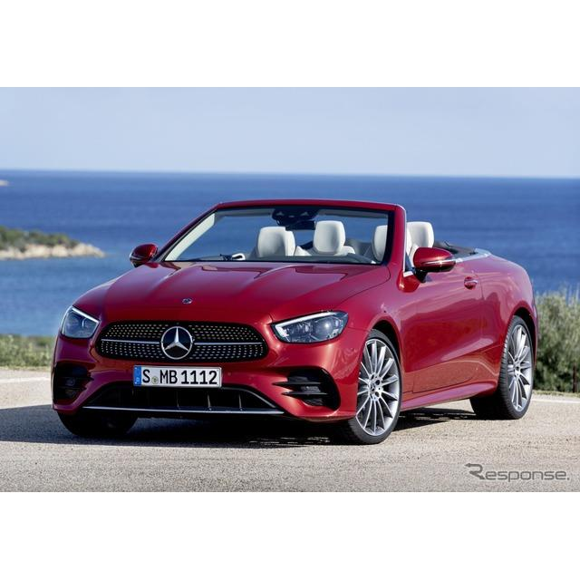 メルセデスベンツは5月27日、『Eクラスカブリオレ』(Mercedes-Benz E-Class Cabriolet)の改良新型を、欧...