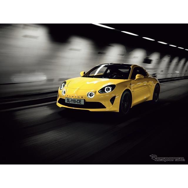 アルピーヌ・ジャポンは、イエローのボディカラーを採用した期間限定の受注生産モデル、『A110カラーエディ...