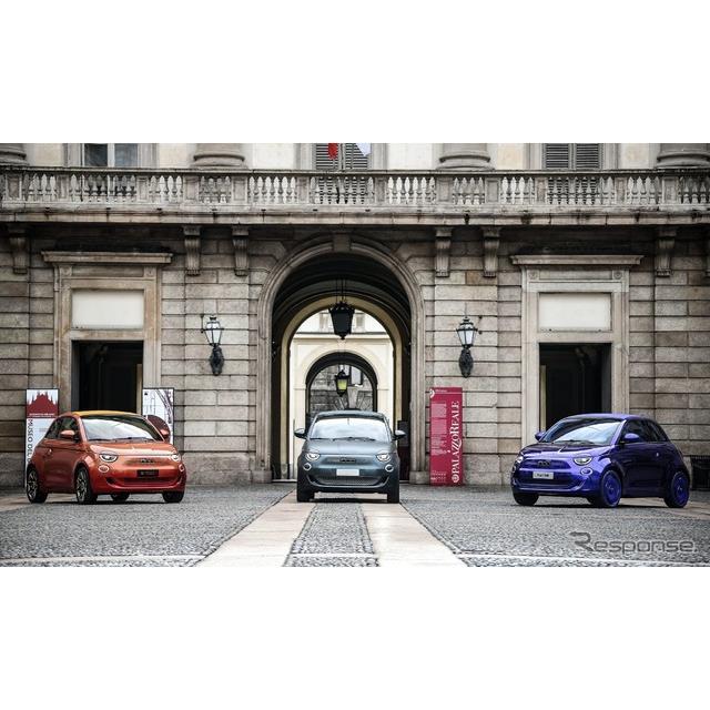 フィアットは、EVとなった新型『500』(Fiat 500)ベースの3台のワンオフモデル製作の舞台裏に迫った初のド...
