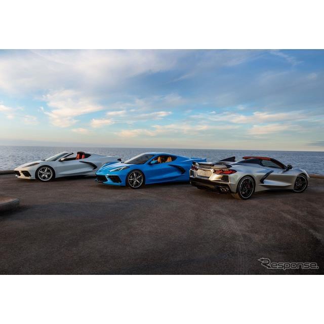 GMのシボレーブランドは7月8日、新型『コルベット・スティングレイ』(Chevrolet Corvette Stingray)の202...