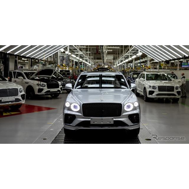 ベントレーは7月20日、改良新型『ベンテイガ』(Bentley Bentayga)の生産を、英国クルー本社工場で開始し...