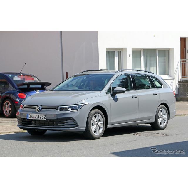 VW『ゴルフ』新型に設定される派生ワゴン、『ゴルフ ヴァリアント』新型プロトタイプをカメラが捉えた。「...