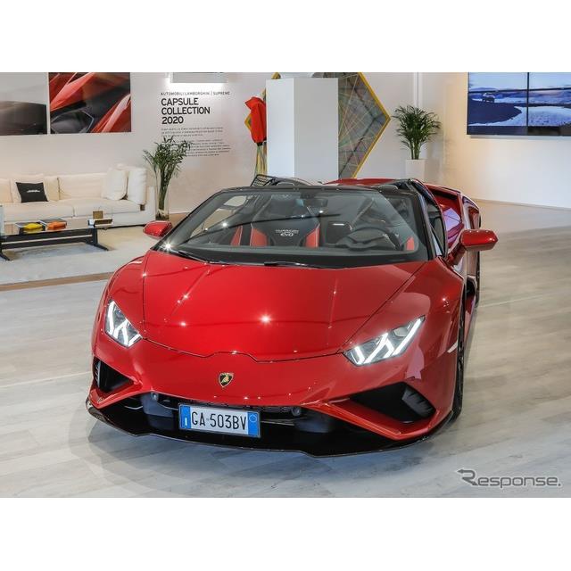 ランボルギーニは8月3日、『ウラカン・エボRWDスパイダー』 (Lamborghini Huracan EVO RWD Spyder)の実車...