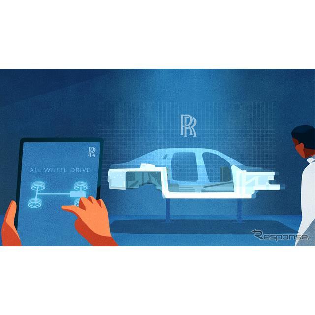 ロールスロイスモーターカーズ(以下、ロールスロイス)は8月11日、今秋初公開する予定の次期『ゴースト』...