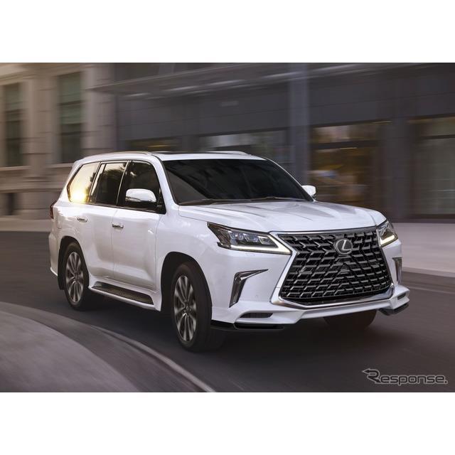 レクサスの米国部門は8月12日、『LX570』(Lexus LX 570)の2021年モデルを発表した。今秋、米国市場で発売...