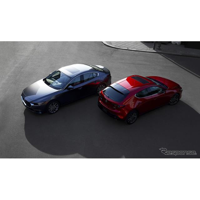 マツダの米国部門は今秋、『マツダ3』(Mazda3)の2021年モデルを米国で発売すると発表した。  ◆2.0リッ...