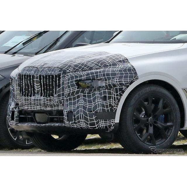 BMWのフラッグシップ・クロスオーバーSUV『X7』改良新型プロトタイプをスクープサイト「Spyder7」のカメラ...