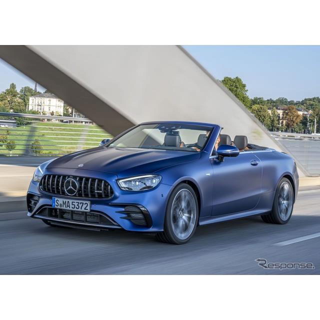 メルセデスベンツは9月25日、改良新型メルセデスAMG『E53 4MATIC+カブリオレ』(Mercedes-AMG E53 4MATIC+ ...