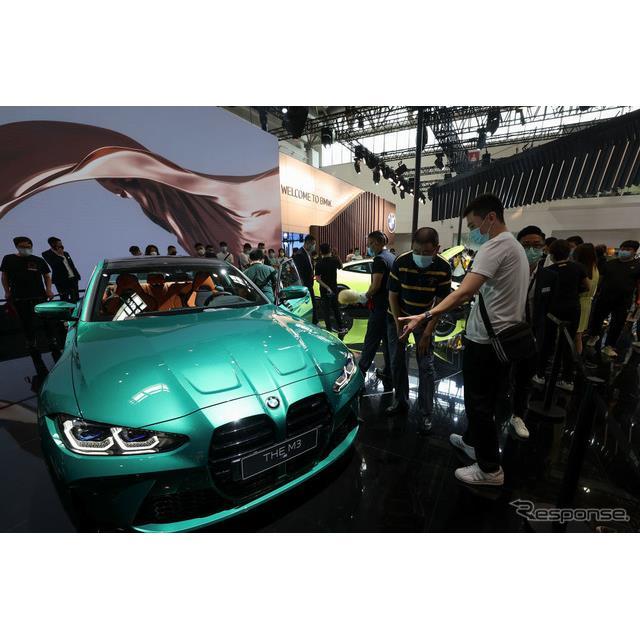 BMWの高性能車部門のBMW Mは9月26日、中国で開幕した北京モーターショー2020において、新型『M3セダン』(B...