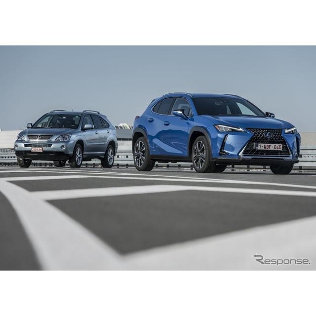 レクサスの欧州部門は10月12日、レクサスのハイブリッド車の欧州発売15周年に合わせて、最新の『UX』(Lexu...