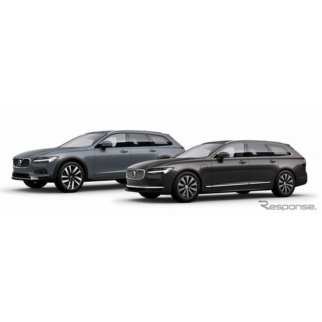 ボルボ・カー・ジャパンは、最上級ワゴン『V90』と『V90クロスカントリー』の内外装デザインと装備レベルを...