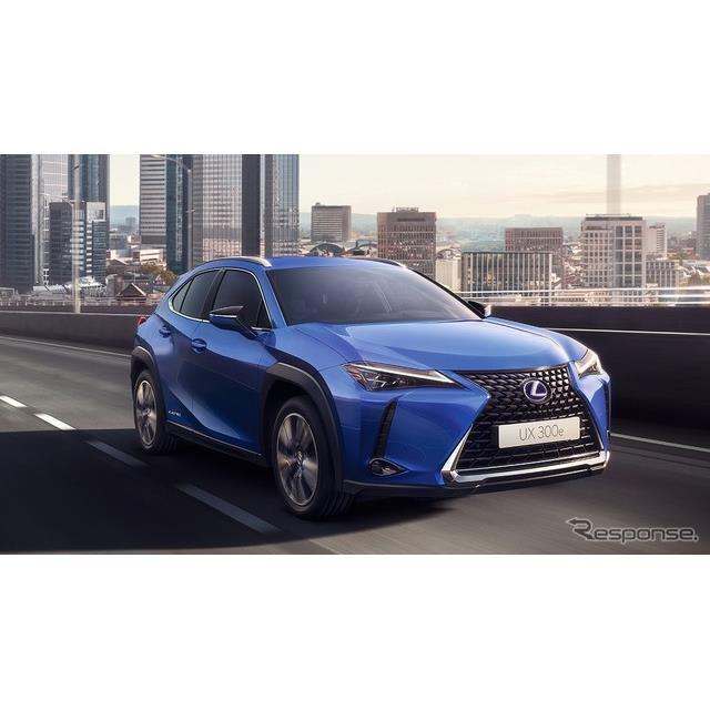 レクサスは、ブランド初の市販電気自動車(EV)『UX300e』を発売、2020年度分の限定販売135台に関する商談...