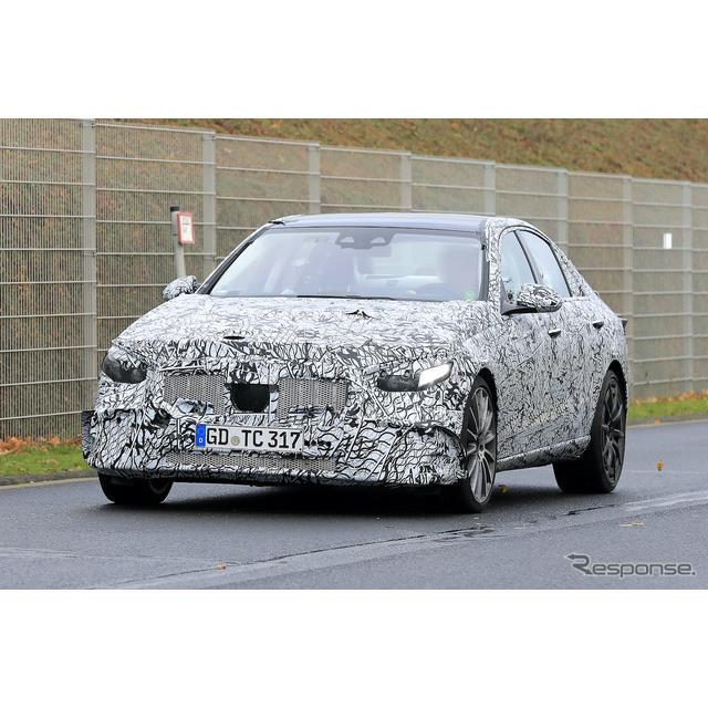 メルセデスベンツが現在開発を進める主力モデル『Cクラス』のハイパフォーマンスモデル、AMG『C43』次世代...