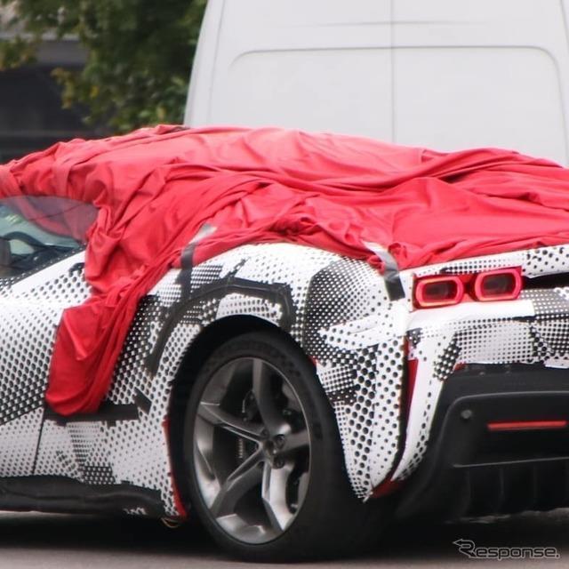 フェラーリ初の量産PHEV(プラグインハイブリッド)モデル『SF90 ストラダーレ』にオープンモデル「スパイ...