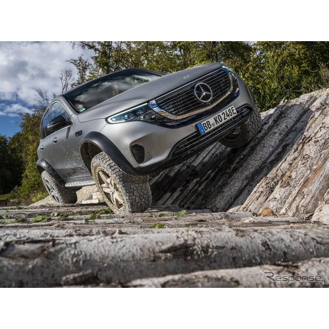 メルセデスベンツ(Mercedes-Benz)は11月23日、EVの『EQC』をベースにした究極のワンオフオフローダー、『...