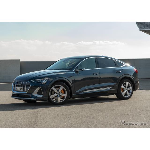 アウディは11月25日、EVの『e-tronスポーツバック』(Audi e-tron Sportback)の2021年モデルを欧州で発表...
