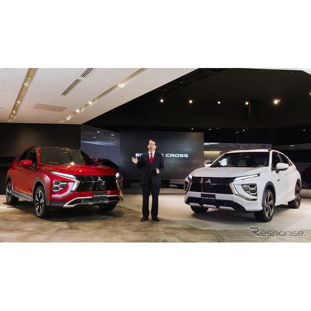 三菱自動車は12月4日、クロスオーバーSUVの新型『エクリプスクロス』の発表会と報道陣とのラウンドテーブル...