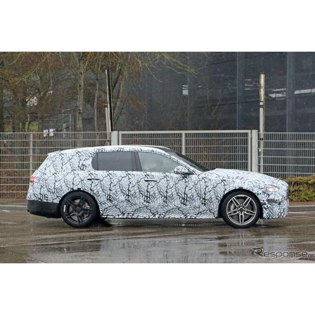 メルセデスベンツ『Cクラス・ステーションワゴン』次期型の高性能AMGモデルをキャッチした。これまで「AMG ...