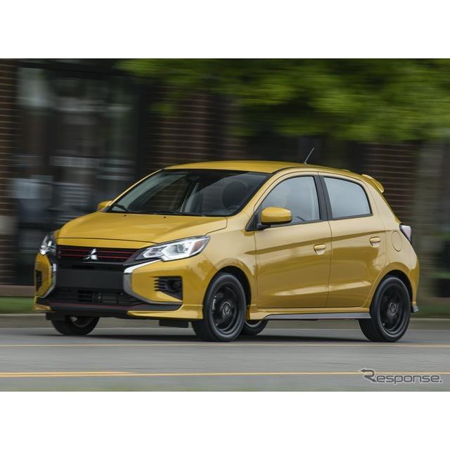 三菱自動車の米国部門の三菱モータースノースアメリカは1月6日、改良新型『ミラージュ』(Mitsubishi Mirag...
