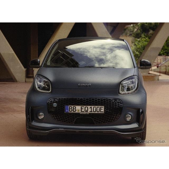 スマートは1月27日、EVの『EQフォーツークーペ』(Smart EQ Fortwo Coupe)に「エディションブルードーン」...