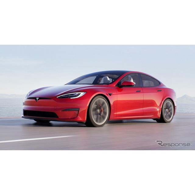 テスラは1月27日、『モデルS』(Tesla Model S)の改良新型の写真を公開した。  改良新型では、内外装が...