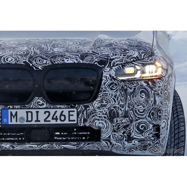 BMWは現在クロスオーバーSUV『X3』改良新型を開発しているが、そのEVバージョンとなる『iX3』改良新型の最...
