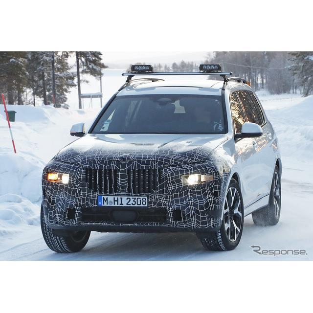 BMWのフラッグシップ・クロスオーバーSUV『X7』改良新型プロトタイプが、初のウィンターテストを開始した。...