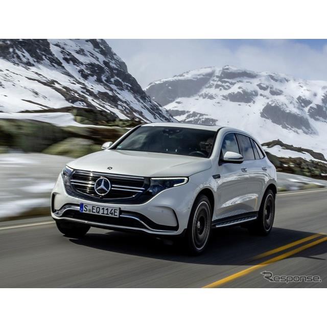 メルセデスベンツは2月17日、ブランド初の市販EVの『EQC』(Mercedes-Benz EQC)の欧州仕様車に、「AMGライ...