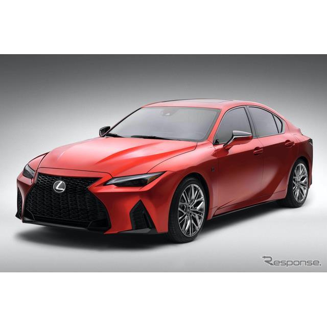 レクサスは22日、北米市場専用車種として、レクサス『IS500 Fスポーツ・パフォーマンス』(Lexus IS 500 F ...