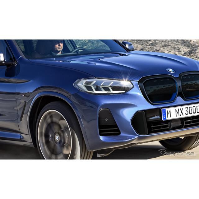 BMWは、現在フルエレクトリック・クロスオーバーSUV『iX3』の改良新型を開発しているが、その市販型デザイ...