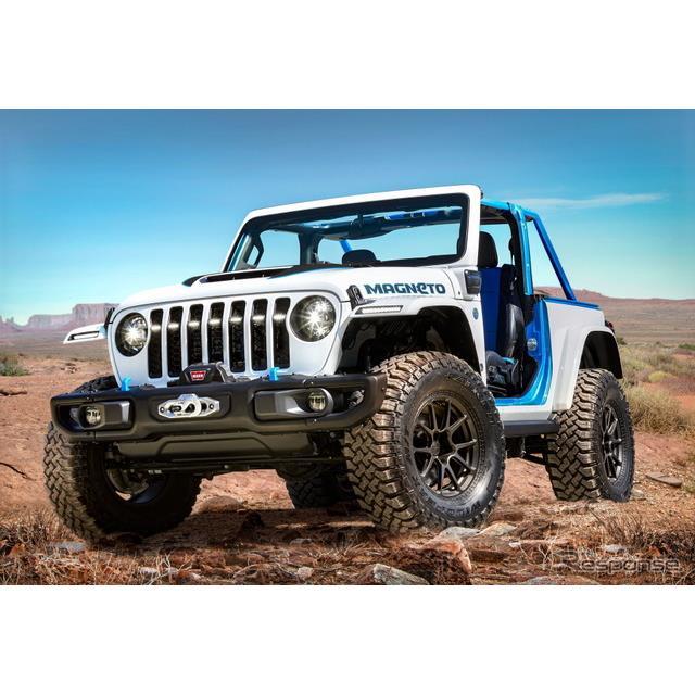 ステランティス傘下のジープブランドは3月22日、EVコンセプトカーの『マグニートー』(Jeep Magneto)を3月...