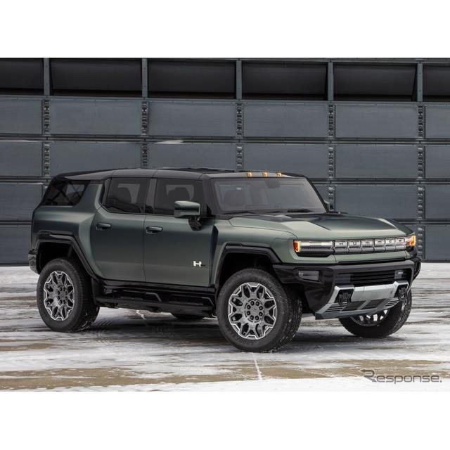 GMのGMCブランドは4月5日、4月3日にデジタルワールドプレミアした『ハマーEV SUV』(GMC HUMMER EV SUV)で...