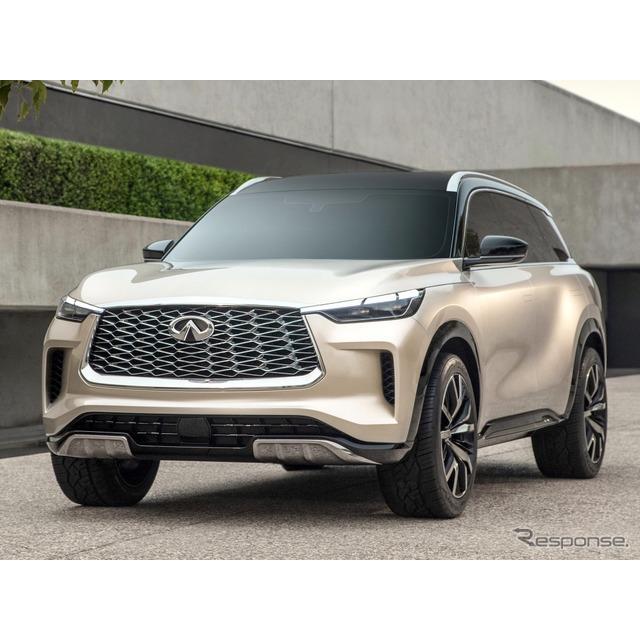 日産自動車の海外向け高級車ブランド、インフィニティは4月9日、現在開発中の新型『QX60』(Infiniti QX60...