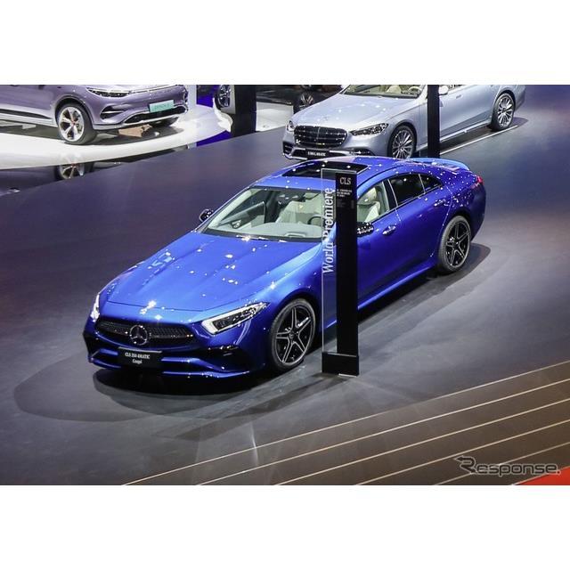 メルセデスベンツは4月19日、中国で開幕した上海モーターショー2021において、改良新型『CLSクーペ』(Merc...